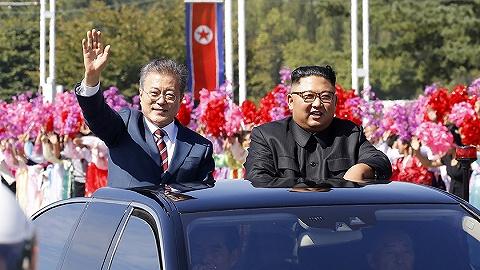 韩国总统首次进入劳动党总部会金正恩 韩媒:礼遇罕见